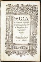 (Ioachimi Ringelbergij, Antuerpiani) Institutiones astronomic ternis libris cotent : Quarum primus sphaerae ac mundi narturam declarat.