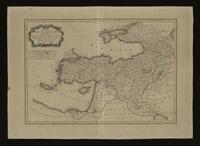 Carte de la Turquie d'Asie presque entiere contenant l'Anatolie, la Géorgie, l'Armenie, le Curdistan, l'Alge-zira, l'Irak-Arabi, la Syrie &c.