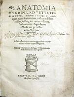 Anatomia Mvndini ... collata,iustoq, suo ordini restituta
