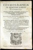 Cosmographia in qvatvor libros distribvta svmmo ordine, miraqve facilitate, ac breuitate ad magnam Ptolemæi mathematicam constructionem, ad vniuersamq́ue astrologiam instituens.