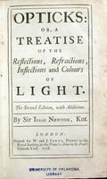 Opticks; or, A treatise of the reflections, refractions, inflections and colours of light.